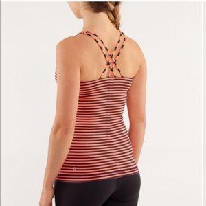 Lululemon Free To Be Tank Stripe Inkwell Size 6